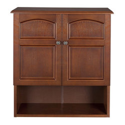 Elegant Home Fashions - Elegant Home Martha Mahogany Bathroom Wall Cabinet with 2 Doors Brown - ELG-501 - Shop for Bathroom Cabinets from Hayneedle.com! Infusing a classic flair into your bath the Elegant Home Martha Mahogany Bathroom Wall Cabinet with 2 Doors is an appealing storage unit. It features two doors that open to a spacious interior with one adjustable shelf to accommodate items of varying sizes. Additional storage is provided in its open shelf. Antique finished door knobs offer a classic flair to the unit. With neat linear contours and an attractive finish for visual appeal it also has a durable medium density fiber-board and engineered wood construction.About Elite Home FashionsProviding affordable extravagance Elite Home Fashions has been the nation's foremost manufacturer of bathroom accent furniture and bathroom accessories in the United States. Their customers include some of America's finest and most prestigious retailers department stores and discount retail chains. Elite Home Fashions has traveled the globe to give consumers the best quality and design for their bathroom decor.