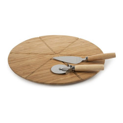 Core Bamboo Ultimate Pizza Set - The Ultimate Bamboo Pizza Set is not only durable and functional but it's also fun to use. Serve up your favorite pizza pie on this 100% organically grown pizza board with accompanying bamboo handled pizza cutters. There are even grooves in the bamboo pizza board to ensure your pizza is cut evenly every time. Entertain in style with this bamboo pizza set and leave those cardboard pizza boxes behind forever.