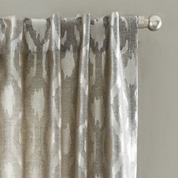 Brushstroke Ogee Jacquard Curtain - These curtains come in a gorgeous pattern and a great neutral color.