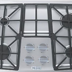 "Verona - VECTGV304SS 30"" Gas 4 Burner Cooktop with Stainless Steel Knobs  Permanently Sea - Cook like a pro with variable simmering and searing BTUs and infinite settings of easy-to-clean high performance sealed burners Your passion for cooking will never be extinguished thanks to automatic electric spark ignition Burners light at any posit..."