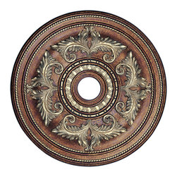 Livex - Livex Ceiling Medallions Ceiling Medallion 8210-64 - Finish: Palacial Bronze with Gilded Accents