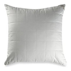 "Laura Ashley - Laura Ashley Quilted 400 Thread Count European Square Toss Pillow - Sleek and classic with modern flair, this quilted European sham has a square quilted pattern on its surface with with a 2"" gusset for shape and support. So soft and stylish, it's totally irresistible."