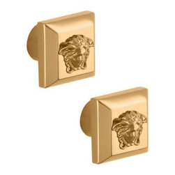 """Versace - Versace SUPERBE GOLD Paired Cabinet Knobs 3cm 1.25"""" - Versace Cabinet Knobs"""