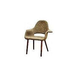 Mid Century Classic Products - Furniture - This price is for A SET OF TWO! The style of decades past serves as inspiration for this versatile classic accent chair. It features a supportive high back, arms, as well as light foam padding under the multi-hued tan and beige twill fabric. A wooden frame and legs (medium brown stain) serve as the basis for construction. This chair is sold as a set of two, and assembly is required. Click for more info: http://modernroomswithstyle.com/item_1685/Classic-Mid-Century-Style-Accent-Chair-in-a-Taupe-Woven-Colored-Twill.htm