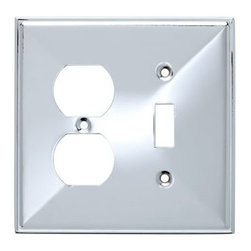 Liberty Hardware - Liberty Hardware 135879 Beverly WP Collection 4.96 Inch Switch Plate - A simple change can make a huge impact on the look and feel of any room. Change out your old wall plates and give any room a brand new feel. Experience the look of a quality Liberty Hardware wall plate. Width - 4.96 Inch, Height - 4.9 Inch, Projection - 0.3 Inch, Finish - Polished Chrome, Weight - 0.21 Lbs.