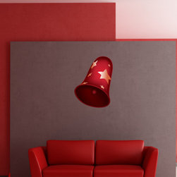 Christmas Bell Vinyl Wall Decal ChristmasBellUScolor007; 12 in. - Vinyl Wall Decals are an awesome way to bring a room to life!