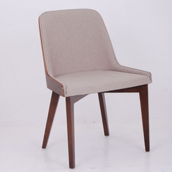 """Nuans - Hudson Side Chair with Wood Legs - Features: -Solid beech wood legs.-Plywood molded seat frame.-Seat and back cushion padded.-Finish: American walnut.-Hudson collection.-Collection: Hudson.-Distressed: No.-Non-Toxic: Yes.-Upholstered Seat: Yes .-Number of Legs: 4.-Leg Material: Wood.-Commercial Use: Yes.Dimensions: -Overall Height - Top to Bottom: 32"""".-Overall Width - Side to Side: 24"""".-Overall Depth - Front to Back: 24"""".-Seat Height: 20"""".-Seat Width - Side to Side: 24"""".-Seat Depth - Front to Back: 24"""".-Overall Product Weight: 17 lbs.Warranty: -1 Year warranty."""