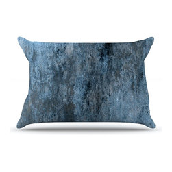 "Kess InHouse - CarolLynn Tice ""Familiar"" Dark Blue Pillow Case, King (36"" x 20"") - This pillowcase, is just as bunny soft as the Kess InHouse duvet. It's made of microfiber velvety fleece. This machine washable fleece pillow case is the perfect accent to any duvet. Be your Bed's Curator."
