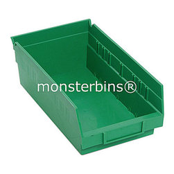 Plastic Bins - Parts - Shelf Bins are used by people all over their houses and offices.  These plastic parts bins are the perfect replacement for worn out cardboard boxes.  When empty, they nest inside of each other to conserve space.  This model is 11-5/8 x 6-5/8 x 4.  They are sold in cartons of 30.  You can purchase our parts bins in 6 different colors, as well as clear.