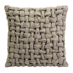 Tessuta Felt Pillow - Talk about texture! The eye-catching Tessuta Felt Pillow has a woven design that adds dimensionality to the item. Its neutral color and soft felt fabric make it a match for most contemporary, modern, and eclectic design styles.