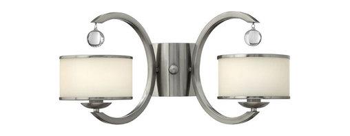 Hinkley Lighting - Hinkley Lighting 4852BN Monaco Brushed Nickel Wall Sconce - Hinkley Lighting 4852BN Monaco Brushed Nickel Wall Sconce