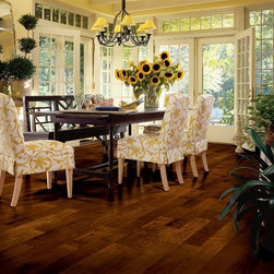 Artesian Classics - Maple - Raisin - Warm birch, toasty cherry, and chocolate-y walnut are some of the gorgeous hardwood floors in this beautiful hardwood collection from Armstrong Flooring.