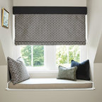 Smith and Noble  Flat Roman Fabric Shades - Fabric Shades make for endless possibilities, like fabric Roman shades for an exotic look, or London fabric window shades for a touch of class. Starting at $131+