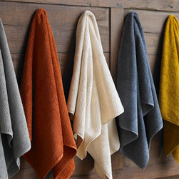 Organic Cotton Bath Towels - I'd love to wrap up in one of Coyuchi's colorful towels. They're made from pure organic cotton and are twill-woven for softness – a great post-bath treat.