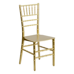 Flash Furniture - Flash Elegance Resin Stacking Chiavari Chair - If you've been to a wedding, chances are you've sat in a Chiavari chair. Chiavari Chairs have become a classic in the event industry and are also highly popular in high profile entertainment events. This chair is used in all types of elegant events due to its lightweight, stacking capabilities and elegant design. Keep your guests comfortable with optional cushions and keep your chairs beautiful with chair covers.