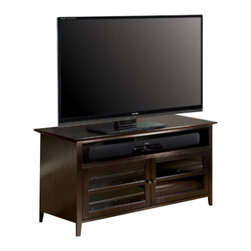 "Bello - Bello 52"" Wood TV Stand in Dark Espresso Finish - Bello - TV Stands - WAVS99152 - This impressive Dark Espresso finished wood Audio Video cabinet offers versatility and functionality with a finely crafted elegant design."