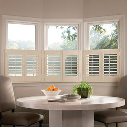 NewStyle® hybrid shutters with Front Tilt Bar - Hunter Douglas Custom Shutter Collection Copyright © 2001-2012 Hunter Douglas, Inc. All rights reserved.