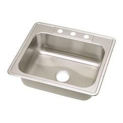 Elkay - Elkay Dayton Elite Single Bowl Sink with Three Holes (DSE125223) - Elkay DSE125223 Dayton Elite Single Bowl Sink with Three Holes, Stainless Steel