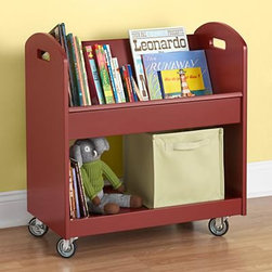 Tomato Local Branch Library Cart - Create a sweet and unique way to store your child's books with their very own library cart! I love that this has wheels, too, so it can be moved around with ease.