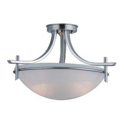 Hardware House - Electrical - 10-0304 Sn 3-Light Semi-Flush Light - Carlisle 3-Light Semi-Flush Mount Lite
