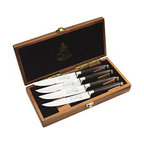 Messermeister - Messermeister San Moritz Elite - Kullenschliff Steak Knife Set in Wood Box - Messermeister San Moritz Elite - Kullenschliff Steak Knife Set in Wood Box - E/2684-4KWB    This 4 Piece Steak Set consists of: