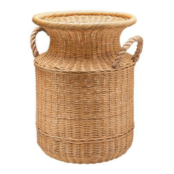 Kouboo - Wicker Umbrella Stand and Floor Vase - This wicker piece takes a stand for whatever you need it to. It's fitted with a tin water catch along the bottom to catch dripping water — perfect for umbrellas in the foyer — but you can also use it for potted plants or dried arrangements.