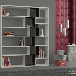 Roscoe Bookcase White-Black - Decortie