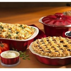 Good Cook Red 8-Piece Ceramic Bakeware Set