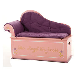 Levels of Discovery - Princess Fainting Couch with Storage - Sophisticated design Removable back, arm and seat cushions Slow-closing metal safety hingeSophisticated design. Removable cushions. Slow-closing metal safety hinge. All products have instructions included for assembly.