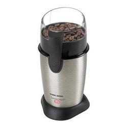 Applica - Black Decker Coffee Bean Grinder Stainless Steel Black - Black and Decker Stainless Steel Coffee Bean Grinder.