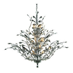 """PWG Lighting / Lighting By Pecaso - Christelle 18-Light 41"""" Crystal Chandelier 6898G41C-SS - The delicate, exotic and graceful Christelle Collection represents luxury, beauty and strength. This sense of magnificence and artful splendor has an ability to draw attention where ever they are shown."""