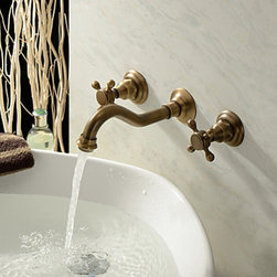 Bathroom Sink Faucets - Antique Inspired Bathroom Faucet (Polished Brass Finish)--faucetsmall.com