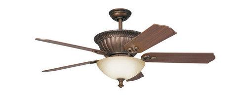 """Kichler - Kichler 300012TZG Larissa 52"""" Indoor Ceiling Fan 5 Blades - Remote, Light - Kichler 300012 Larissa Ceiling Fan"""