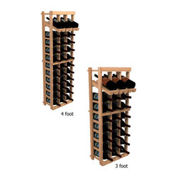 """Wine Cellar Innovations - Three Column Display; WineMaker: Rustic Pine, Light Stain - 3 Ft - Each wine bottle stored on this three column individual bottle wine rack is individually cradled with a built in display row to show off your wine labels. These wine racks must be mounted 1 1/2"""" off the wall to ensure proper wine bottle stability. Assembly Required."""