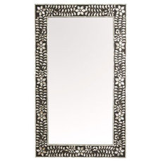 mother of pearl mirror - charcoal - ABC Carpet & Home