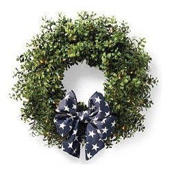 Cordless Boxwood Wreath - This is the perfect wreath for the door.