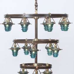 EuroLux Home - Upcycled Consigned Vintage Glass Chandelier 21 - Product Details