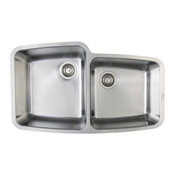 """Blanco Performa Medium 1-3/4 Bowl - Our elegantly curved 1-3/4 bowl design, available in models that fit 36"""" cabinets, maximizes countertop space while maintaining high capacity bowls. 