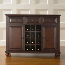 Crosley - Cambridge Sideboard / Buffet - Features: -Three deep drawers.-Raised panel doors ...