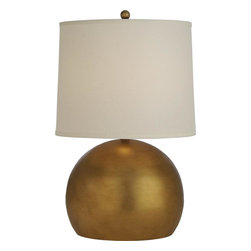 Joshua Marshal - One Light Hand Painted Antique Gold Table Lamp - One Light Hand Painted Antique Gold Table Lamp