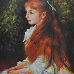 "overstockArt.com - Renoir - Irene Cahen d'Anvers (1872-1963), 1880 - 20"" X 24"" Oil Painting On Canvas Hand painted oil reproduction of a famous Renoir painting, Irene Cahen d'Anvers (1872-1963). The original masterpiece was created in 1880. Today it has been carefully recreated detail-by-detail, color-by-color to near perfection. In the 1870's Renoir's Impressionist technique reached its peak, with glorious accomplishment. His fully defined technique rendered facial expressions and movements masterfully. Renoir often used his friends and acquaintances such as fellow artists and writers. He spent weeks and sometimes months perfecting his paintings. Why not grace your home with this reproduced masterpiece? It is sure to bring many admirers!"