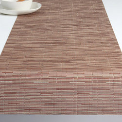 Chilewich - Chilewich Bamboo Table Runner - Chilewich - Bamboo combines modern practicality with a serene Asian sensibility. This subtle design has a natural feel that will complement and enhance a wide range of tableware, from traditional to contemporary. All Chilewich products, including table runner and entertaining decor, are durable and easy to clean. Indoor/outdoor use. Made in USA.