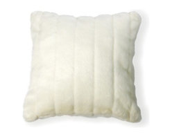 """Best Home Fashions - Faux Fur Pillow Mink 18"""""""" square Cover (Set of 2) - White - - Soft and cuddly our faux Mink pillow makes a perfect addition to any sofa"""