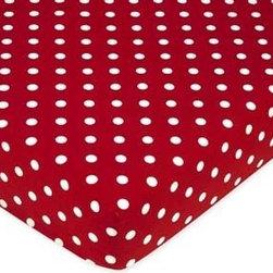 Polka Dot Ladybug Fitted Crib Sheet - A cute crib sheet like this polka dot one is perfect for a nautical-inspired nursery.