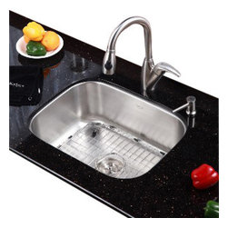 Kraus - Kraus 23 inch Undermount Single Bowl 16 gauge Stainless Steel Kitchen Sink - *Add an elegant touch to your kitchen with a unique and versatile undermount sink from Kraus