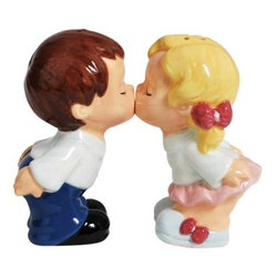 Westland - Little Children First Kiss with Eyes Closed Salt and Pepper Shakers - This gorgeous Little Children First Kiss with Eyes Closed Salt and Pepper Shakers has the finest details and highest quality you will find anywhere! Little Children First Kiss with Eyes Closed Salt and Pepper Shakers is truly remarkable.