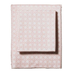 Serena & Lily - Shell Trellis Sheet Set - I tend to stay away from any major use of pink when decorating little girls' rooms, but there can be a place for some pretty pink accents. Try just sheets and pillowcases because only a peekaboo of pink will do.