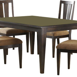 Liberty Furniture Visions 84x42 Rectangular Dining Table in Mocha, Dark Wood