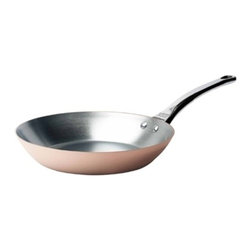 """de Buyer - de Buyer Inocuivre Prima Matera Induction Copper Fry Pan 13"""" - Prima Matera"""" 2 mm thickness ensures very rapid and uniform heat conduction through both bottom and sidesPrima matera is composed by a thick layer of copper and a stainless steel layer in the interior of the pan. Special innovative ferro-magnetic bottom ensure cookware is suitable for induction cooktops. Polished outside. Pouring rim and the cast stainless steel ergonomic handle firmly riveted. No retinning required. Suitable for induction cooktops. Hand wash recommended. Dimensions: 13"""" diameter x 1.57"""" high. Made in France."""