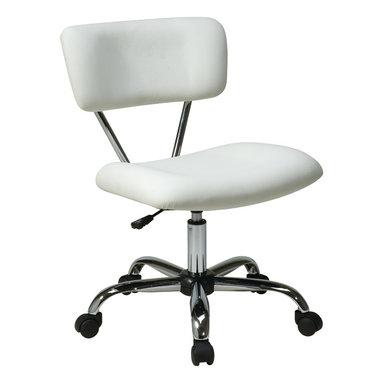 Office Star - Office Star Avenue Six Vista Task Office Chair in White Vinyl - Vista task office chair in white vinyl